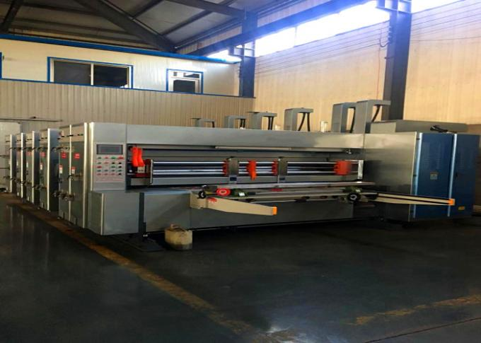Gray Color Automatic Carton Box Printing Slotting Die Cutting Machine /  Automatic Die Cutting Machine