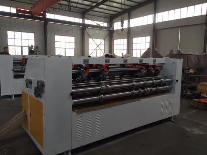 Auto Feed Thin Blade Slitter Scorer For Corrugated Board Cutting