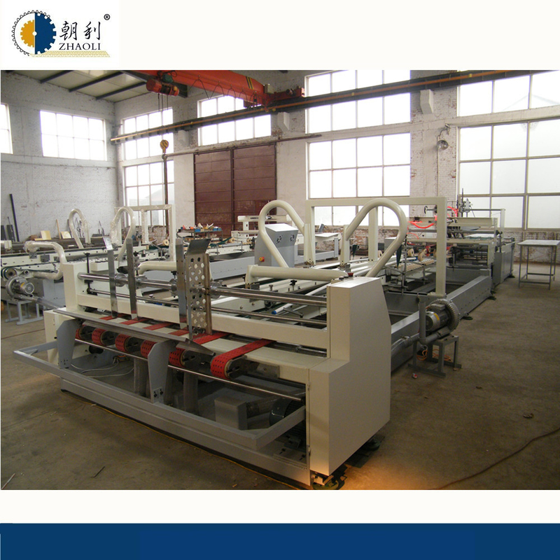 High Speed Carton Folder Gluer Machine Corrugated Cardboard Gluing Machine