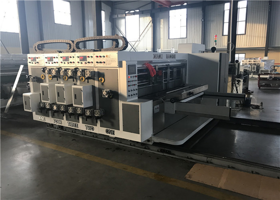 China Reliable Corrugated Carton Machine / Die Cutting Machine Lead Edge Feeder Type factory