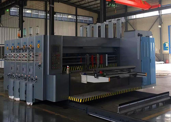 Automatic Corrugated Carton Flexo 4 Colors Printer Slotter Machine  / Carton Box Packing Machine