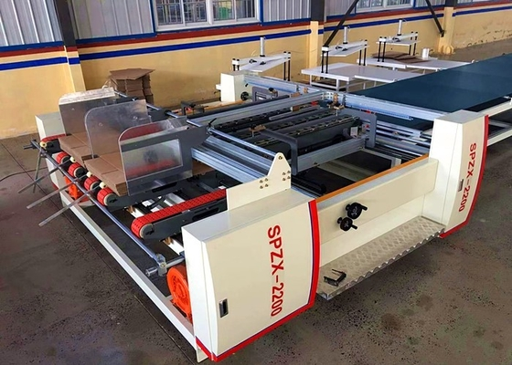 Corrugate Carton Box Double Sheets Gluer Machine / Cardboard Box Packing Mahine