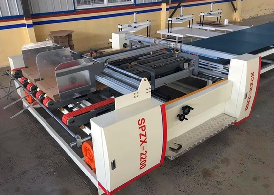 Corrugated Paperboard Folder Gluer Machine  / Carton Box Making Machine