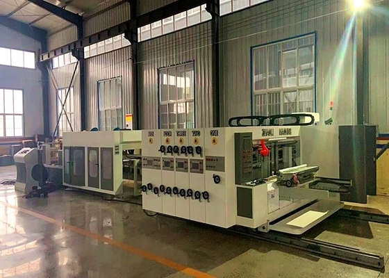 Automatic Feeder Corrugated Carton Flexo Printer Slotter Die Cutter Folder Gluer Bundler Machine